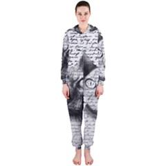 Sphynx Cat Hooded Jumpsuit (ladies)  by Valentinaart