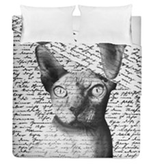 Sphynx Cat Duvet Cover Double Side (queen Size) by Valentinaart