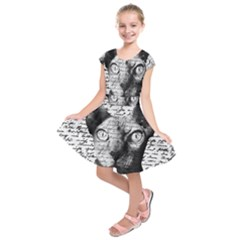 Sphynx Cat Kids  Short Sleeve Dress by Valentinaart