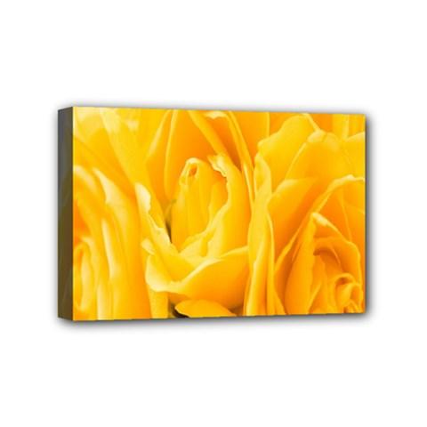 Yellow Neon Flowers Mini Canvas 6  X 4  by Simbadda