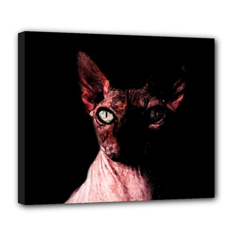 Sphynx Cat Deluxe Canvas 24  X 20   by Valentinaart
