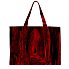 Tunnel Red Black Light Zipper Mini Tote Bag by Simbadda