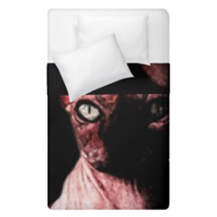 Sphynx Cat Duvet Cover Double Side (single Size) by Valentinaart