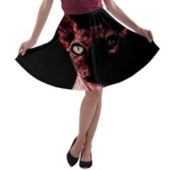 Sphynx Cat A Line Skater Skirt by Valentinaart