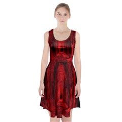 Tunnel Red Black Light Racerback Midi Dress
