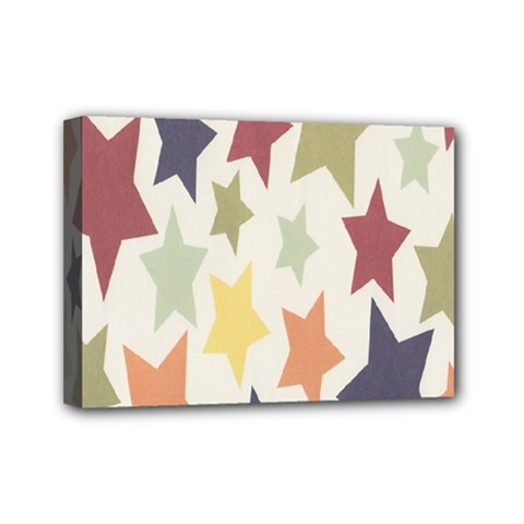 Star Colorful Surface Mini Canvas 7  X 5  by Simbadda
