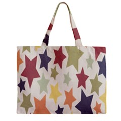 Star Colorful Surface Zipper Mini Tote Bag by Simbadda