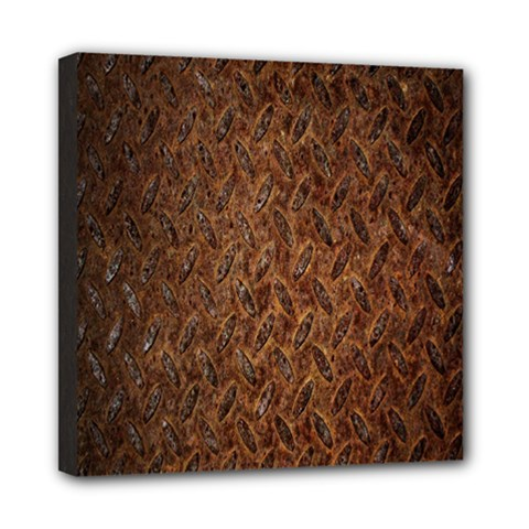 Texture Background Rust Surface Shape Mini Canvas 8  X 8  by Simbadda