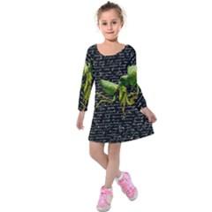 Mantis Kids  Long Sleeve Velvet Dress by Valentinaart