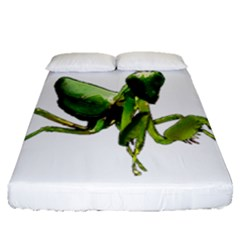 Mantis Fitted Sheet (queen Size) by Valentinaart