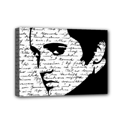 Elvis Mini Canvas 7  X 5  by Valentinaart