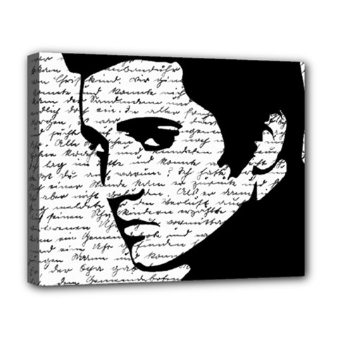 Elvis Deluxe Canvas 20  X 16   by Valentinaart