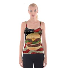 Hamburger Spaghetti Strap Top by Valentinaart