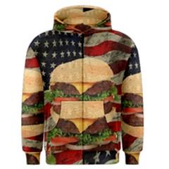 Hamburger Men s Zipper Hoodie by Valentinaart