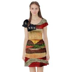Hamburger Short Sleeve Skater Dress by Valentinaart