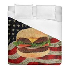 Hamburger Duvet Cover (full/ Double Size) by Valentinaart