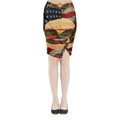 Hamburger Midi Wrap Pencil Skirt by Valentinaart