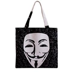 Antonymous   Grocery Tote Bag by Valentinaart