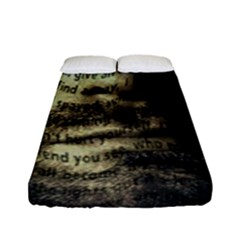 Kurt Cobain Fitted Sheet (full/ Double Size) by Valentinaart