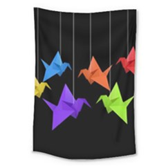 Paper Cranes Large Tapestry by Valentinaart