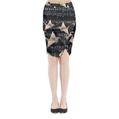 Paper Cranes Midi Wrap Pencil Skirt by Valentinaart
