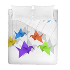 Paper Cranes Duvet Cover Double Side (full/ Double Size) by Valentinaart