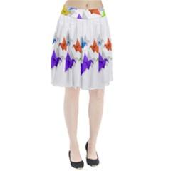 Paper Cranes Pleated Skirt by Valentinaart