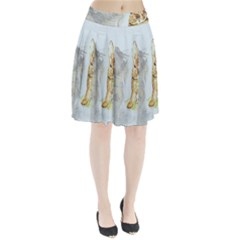 Rabbit  Pleated Skirt by Valentinaart
