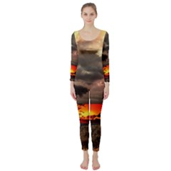 Africa Long Sleeve Catsuit by Valentinaart