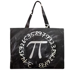 Pi Zipper Large Tote Bag by Valentinaart