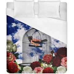 Vintage Bird In The Cage  Duvet Cover (california King Size) by Valentinaart