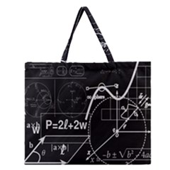 School Board  Zipper Large Tote Bag