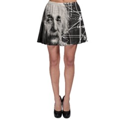 Albert Einstein Skater Skirt by Valentinaart