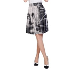 Albert Einstein A Line Skirt by Valentinaart