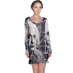 Albert Einstein Long Sleeve Nightdress by Valentinaart