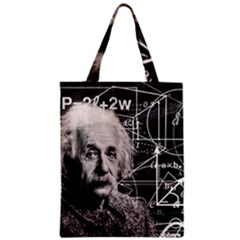 Albert Einstein Zipper Classic Tote Bag by Valentinaart