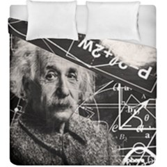Albert Einstein Duvet Cover Double Side (king Size) by Valentinaart