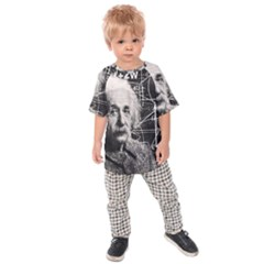 Albert Einstein Kids  Raglan Tee by Valentinaart