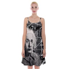 Albert Einstein Spaghetti Strap Velvet Dress by Valentinaart