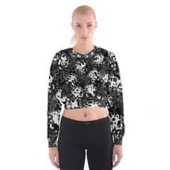 Pattern Women s Cropped Sweatshirt by Valentinaart