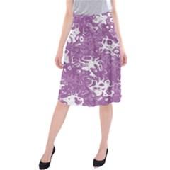 Pattern Midi Beach Skirt by Valentinaart