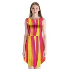 Pattern Sleeveless Chiffon Dress   by Valentinaart