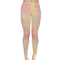 Floral pattern Leggings  by Valentinaart
