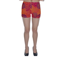 Floral Pattern Skinny Shorts by Valentinaart