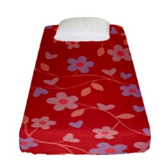 Floral pattern Fitted Sheet (Single Size)