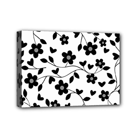 Floral Pattern Mini Canvas 7  X 5  by Valentinaart