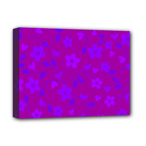 Floral Pattern Deluxe Canvas 16  X 12   by Valentinaart