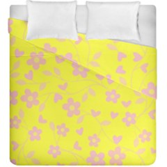 Floral Pattern Duvet Cover Double Side (king Size) by Valentinaart