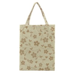 Floral Pattern Classic Tote Bag by Valentinaart
