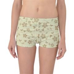 Floral Pattern Boyleg Bikini Bottoms by Valentinaart
